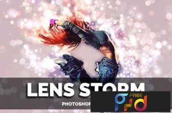 Lens Storm Photoshop Action 3503340