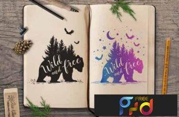 Wild Bear Silhouettes 3411516 6