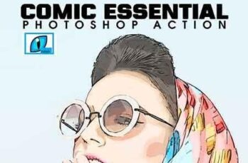 Comic Essential Photoshop Action 23180017 6