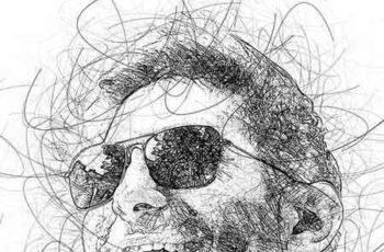 Portrait Scribble Sketch Art Photoshop Action 23191265 1