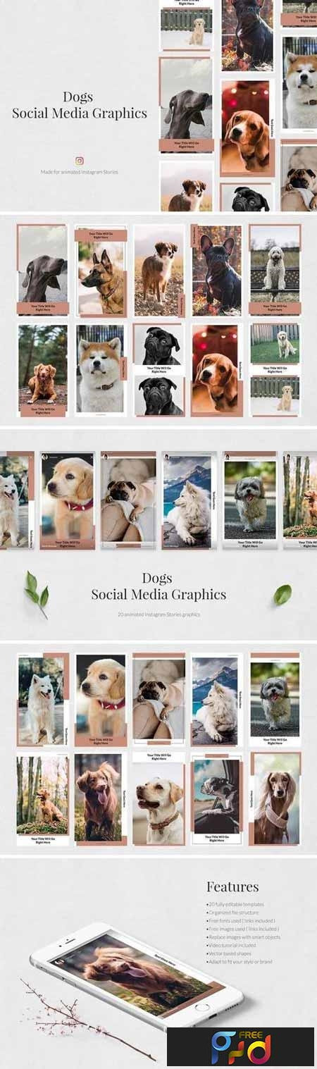 Dogs Animated Instagram Stories 3436046 1