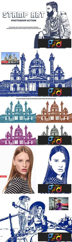 Stamp Art Photoshop Action 3523918 1