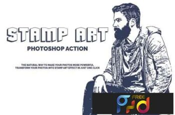Stamp Art Photoshop Action 3523918 3
