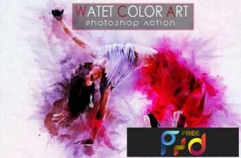 Water color Art Photoshop Actions 3532725 3