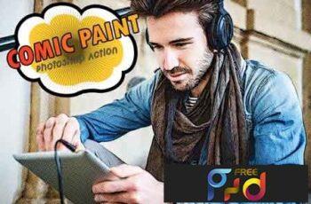 Comic Paint Photoshop Action 3532985 5