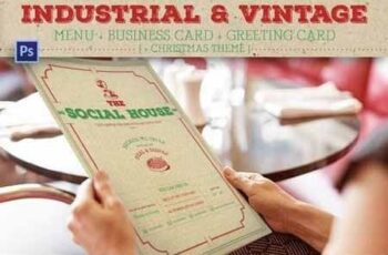 Industrial Vintage Menu 5