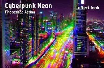 Cyberpunk Neon Photoshop Action 23227583 5