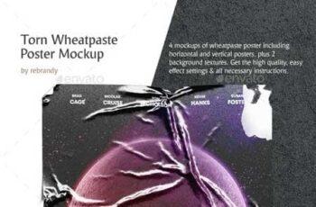 Torn Wheatpaste Poster Mockup 23261153 7