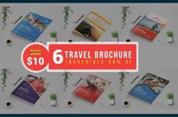 Travel Agency Brochure template Bundle 3527743 3