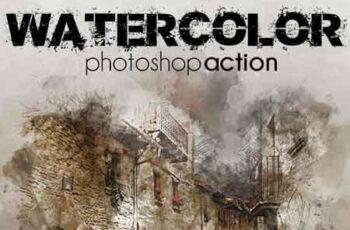 Watercolor Effect Pro Action 23327597 2