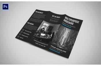 Black Tri Fold Corporate Brochure 3527322 7