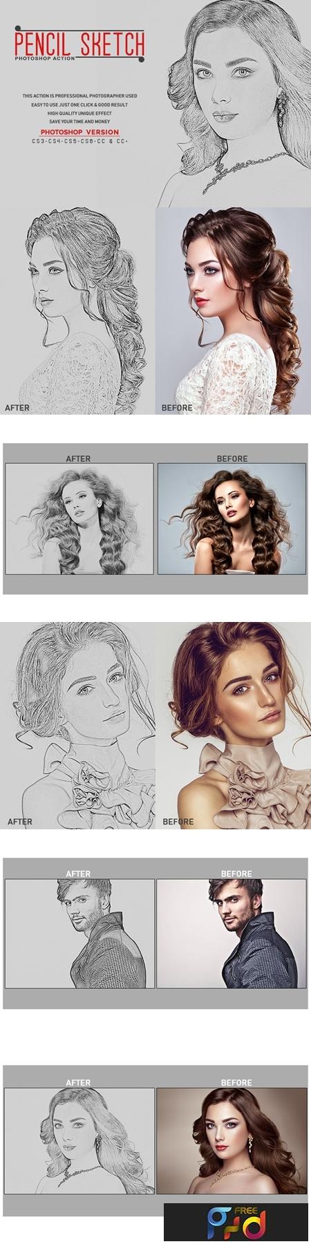 Pencil sketch photoshop action 3535364 1
