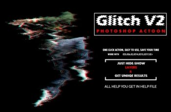 Glitch V2 Photoshop Action 3530581 6