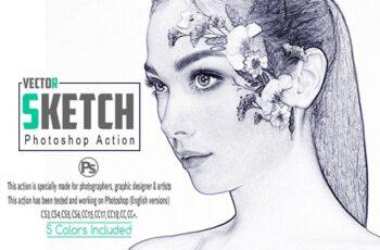 Vector Sketch Photoshop Action 3530476 3