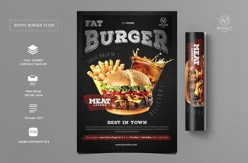 Rustic Burger Flyer 3250046 13