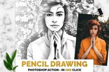 Pencil Drawing Photoshop Action 3385746 2
