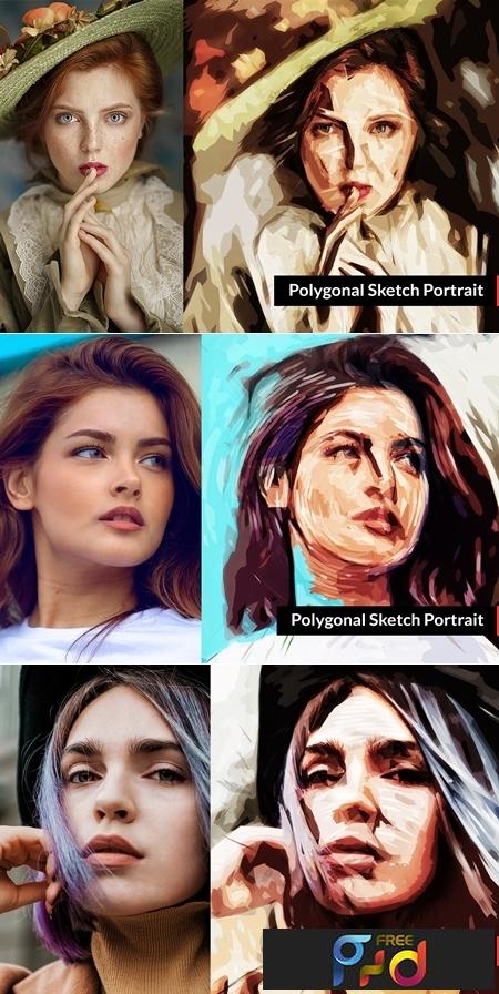 Polygonal Sketch Portrait 3383452 1