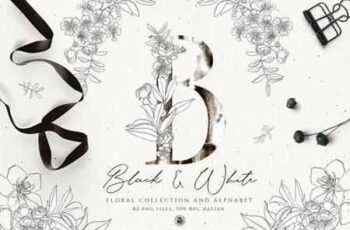 Black And White Floral Alphabet 3422660 15