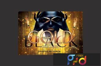 Gold Black Party Flyer 3037179 7