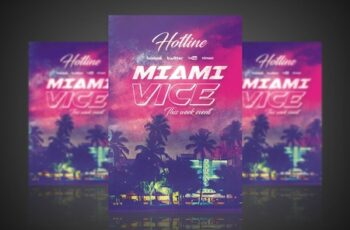 Miami Vice - Flyer Poster 3046245 8