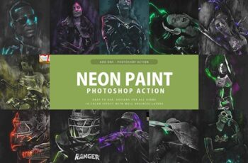 Neon Paint Photoshop Action 3397698 3