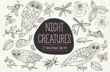 Night Creatures Clip Art & Vectors 3429030 3