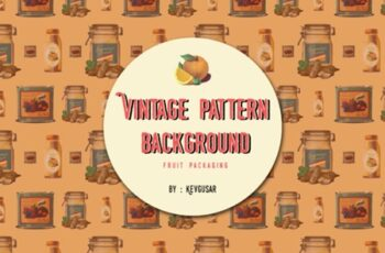 Vintage Fruit Packaging Pattern 5