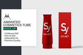 Animated Cosmetics Tube Mock-Up 3288460 6