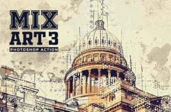 MixART 3 Photoshop Action 23427538
