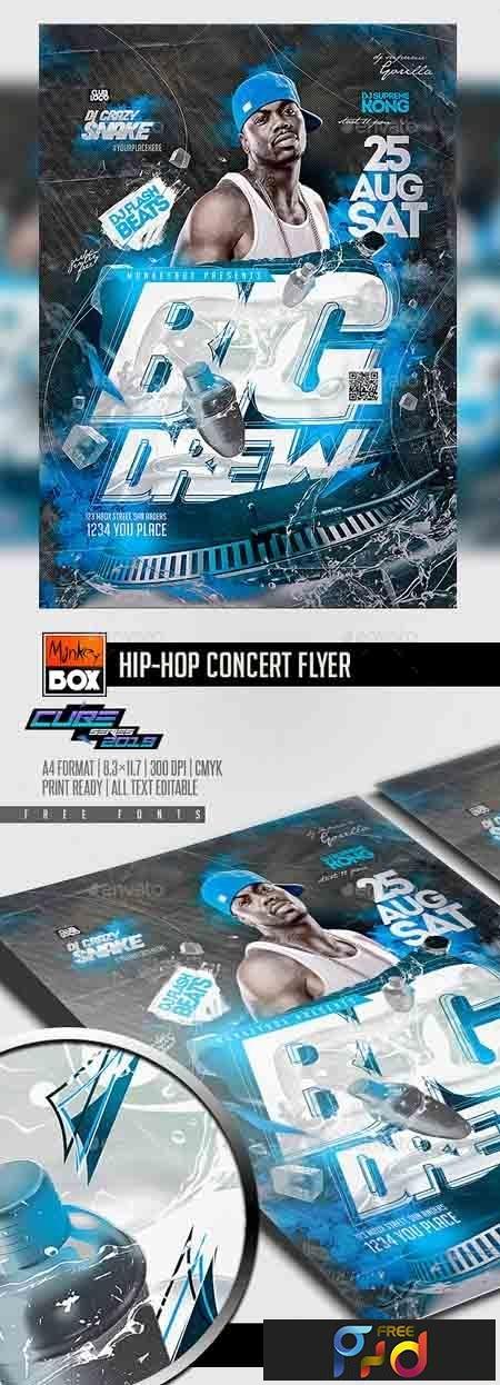 Hip-Hop Concert Flyer 23247679 1