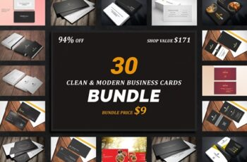 30 Business Cards Bundle 3297958 3