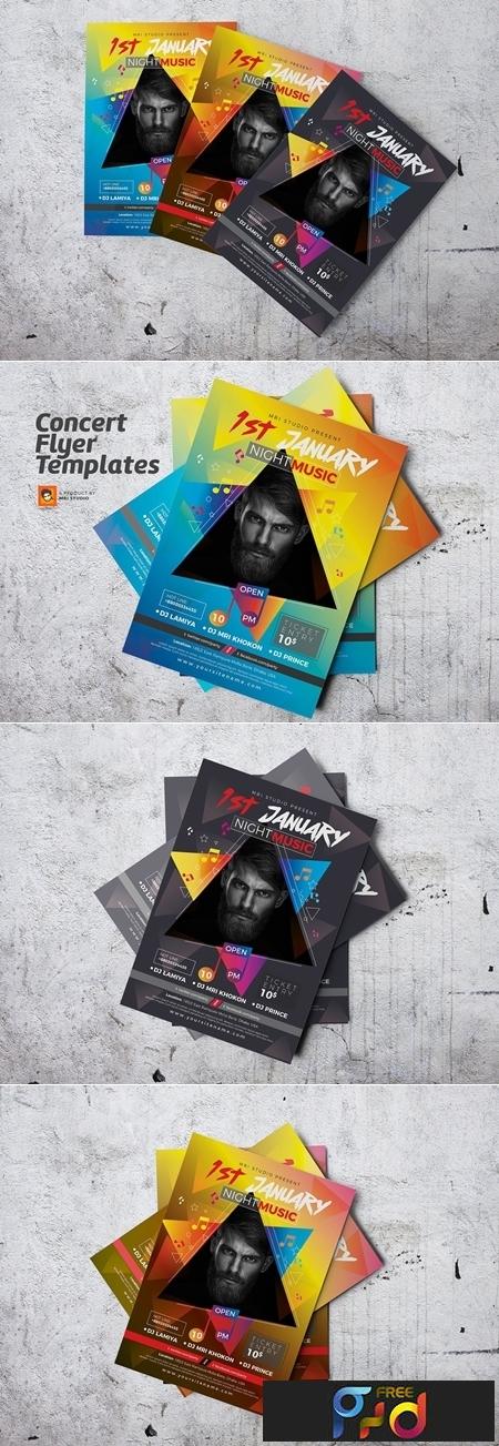 Concert Flyer Templates 3237824 1