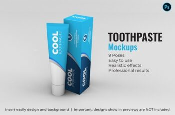 Toothpaste Mockups - 9 Poses 3340924 3