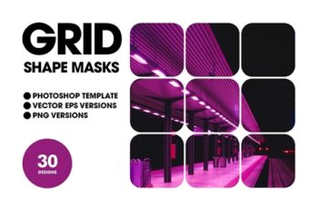 Grid Shape Masks 4