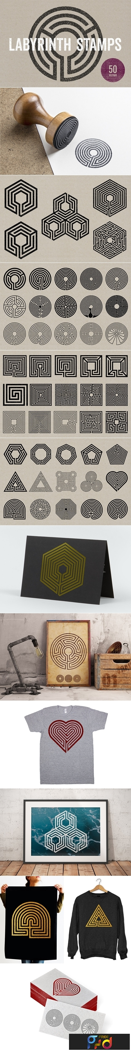 Labyrinth Stamps 1