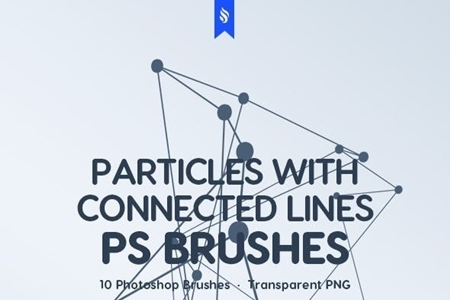Particles with Connected Lines Photoshop Brushes 23274167