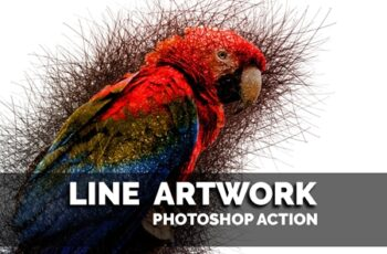 Line Artwork Photoshop action 3621367
