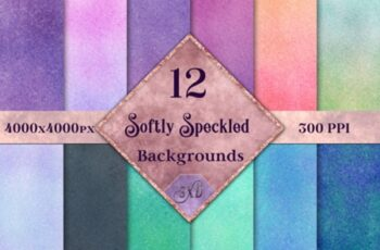 Softly Speckled Backgrounds – 12 Image Set 7