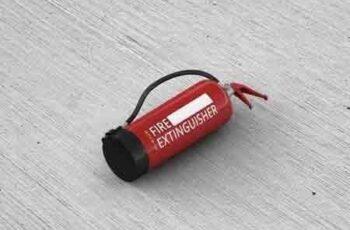 Fire Extinguisher Mockup 7