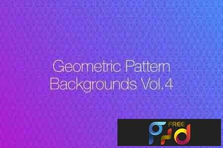 Geometric Pattern Backgrounds vol.4 1