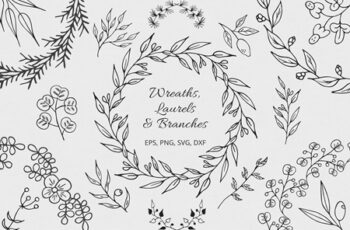 Wreaths, Laurels and Branches Collection 4