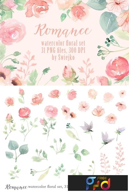 Romantic Floral Clipart set 1122957 1