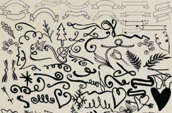 200 Hand Drawn digital elements 4