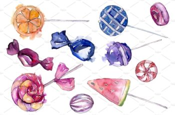 Dessert sweets Watercolor png 3483810 3
