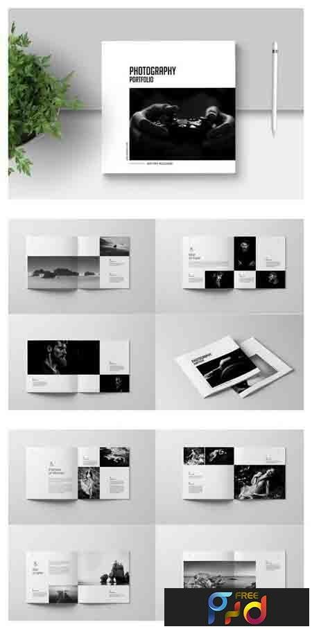 PSD Square photography Portfolio Template - FreePSDvn