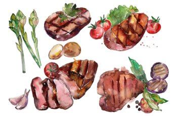 Steak Watercolor png 3483722 5
