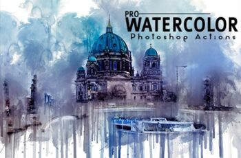 Pro Watercolor Photoshop Actions 3545297 3