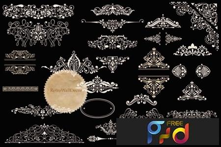 Vintage Ornaments Clip Art Set 1