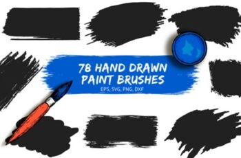 78 Hand drawn Paint Brushes 5