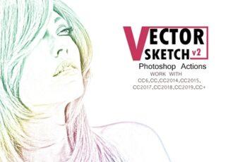 Vector Sketch V2 Photoshop Action 3544371 7